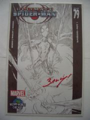 Ultimate Spider-man #79 Signed Mark Bagley Wizard COA